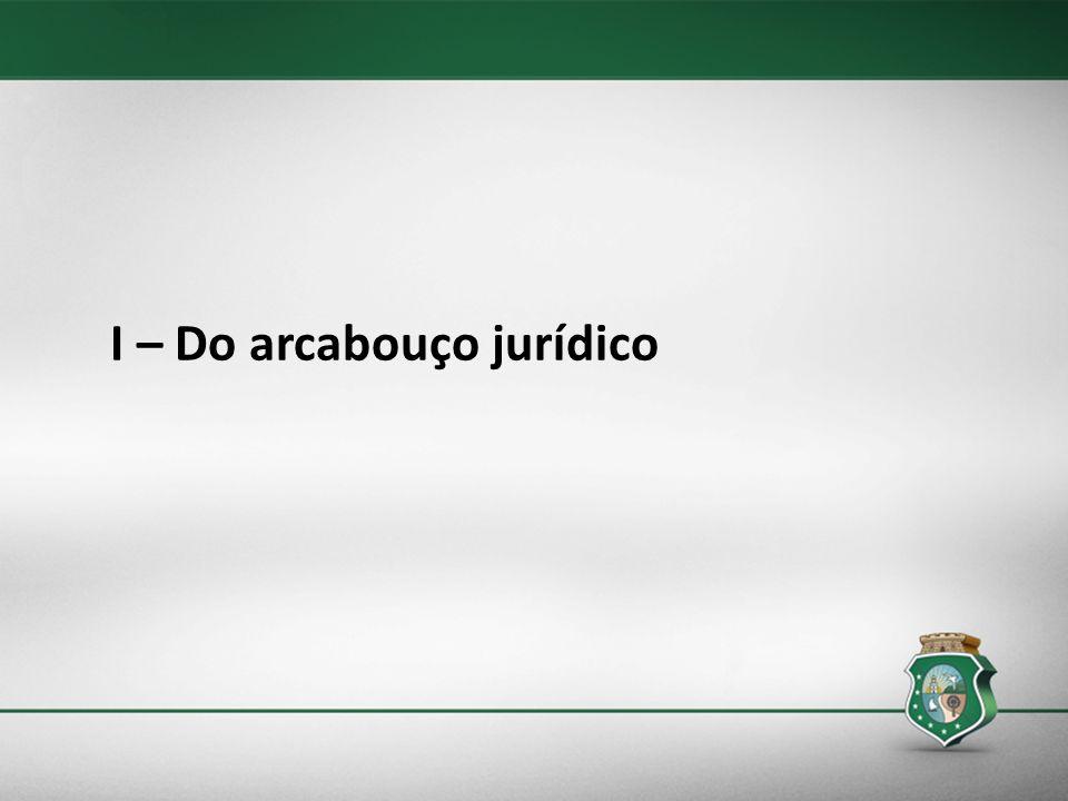 I – Do arcabouço jurídico