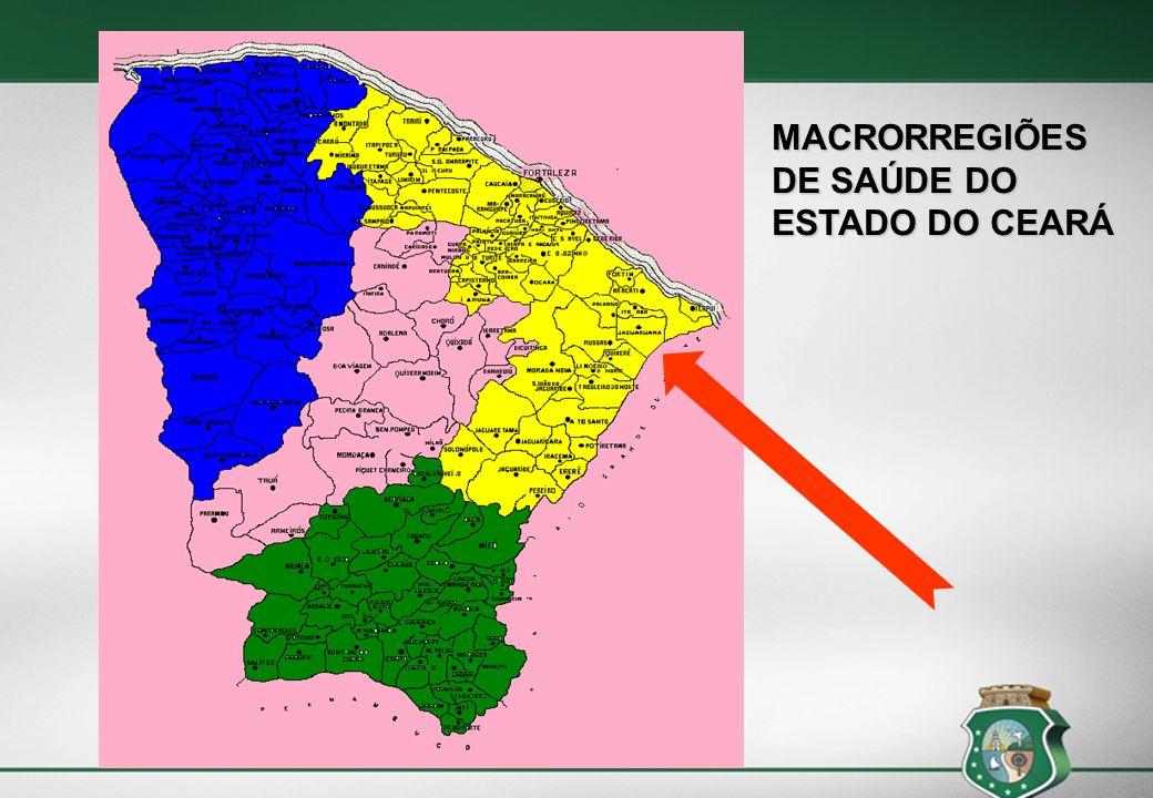 Cobertura Estadual Abril 2013 População: 8.530.155 habitantes ACS - 83,98% ESF – 69% Cobertura Macrorregião Fortaleza Abril 2013 População: 4.933.114 habitantes (57,8%) ACS – 72,67% ESF – 59,63%