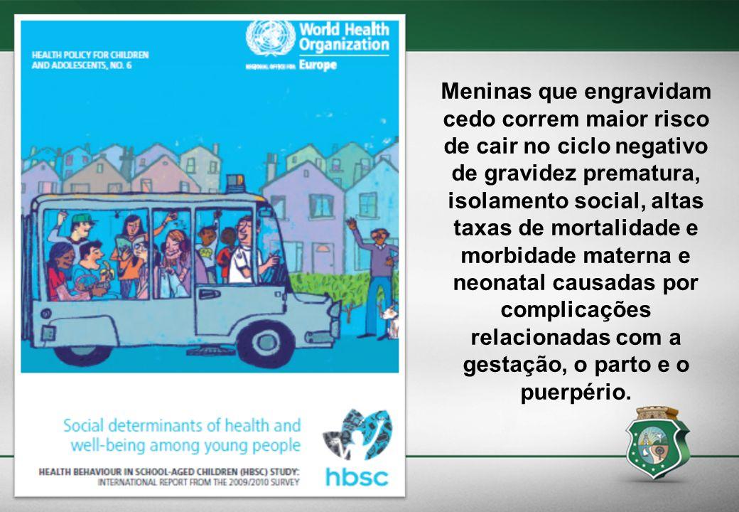 Meninas que engravidam cedo correm maior risco de cair no ciclo negativo de gravidez prematura, isolamento social, altas taxas de mortalidade e morbid
