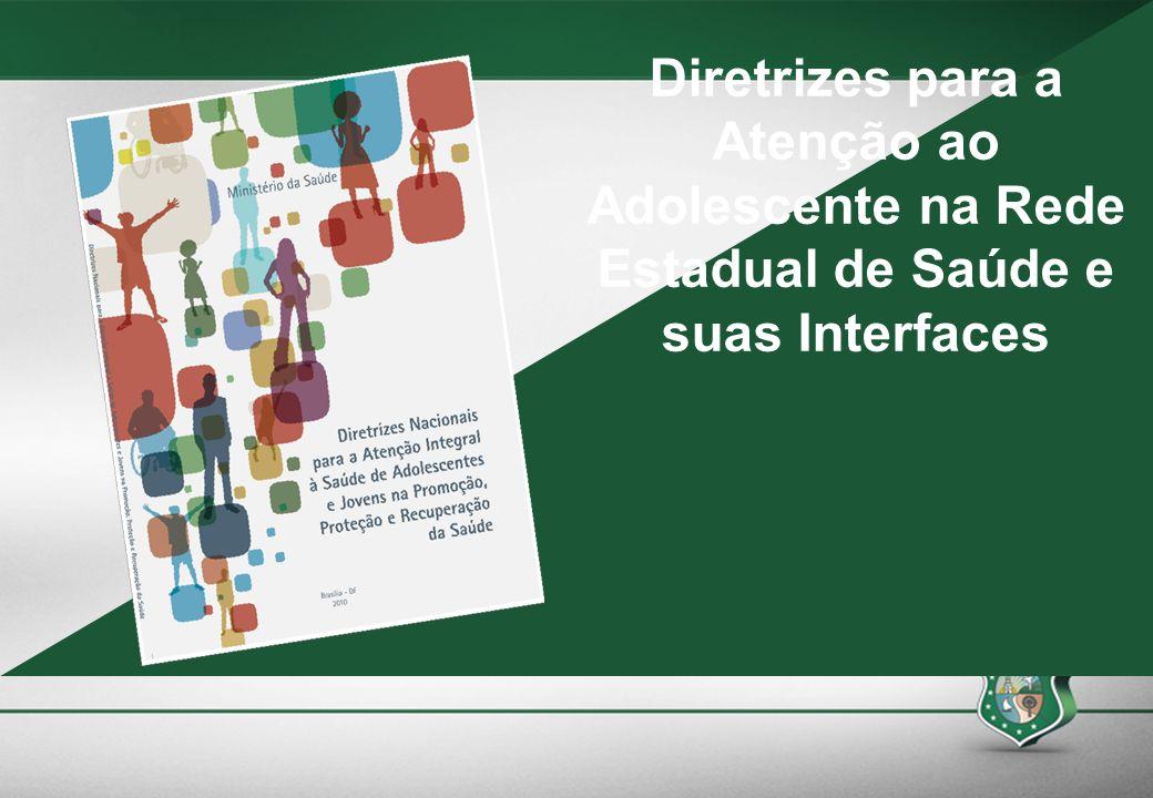 Diretrizes para a Atenção ao Adolescente na Rede Estadual de Saúde e suas Interfaces