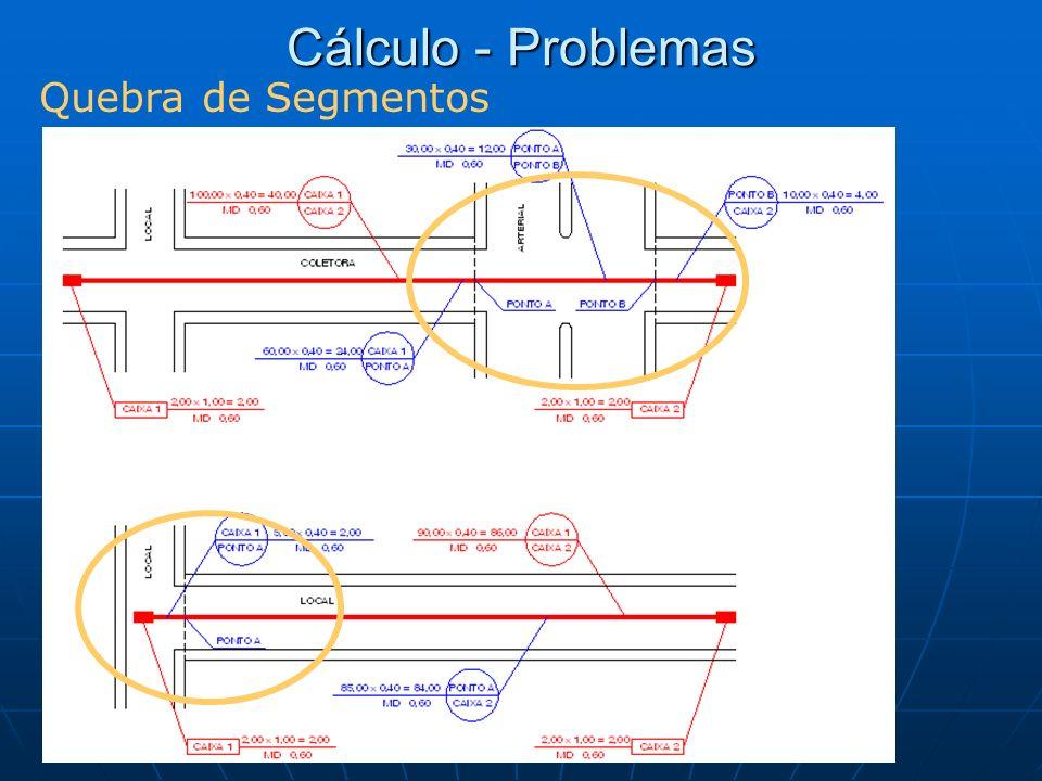 Cálculo - Problemas Quebra de Segmentos