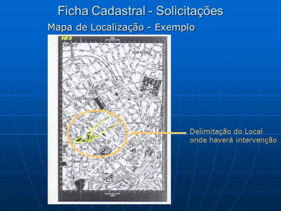 Mapa de Localização - Exemplo Delimitação do Local onde haverá intervenção