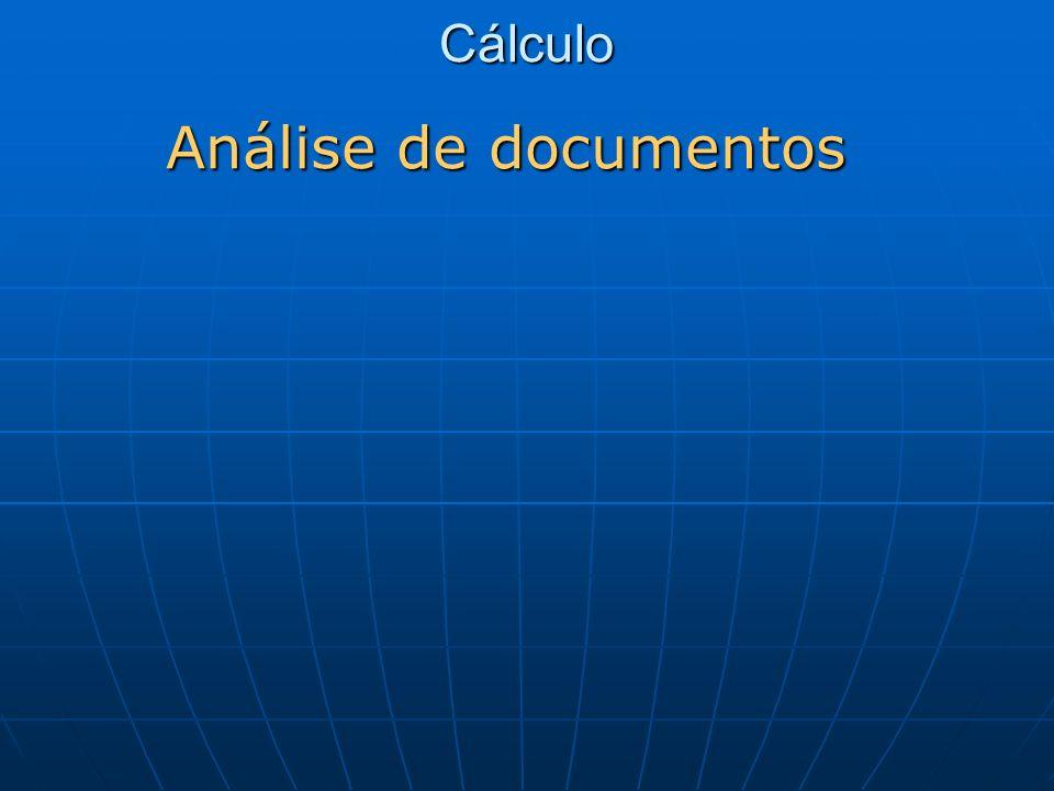 Cálculo Análise de documentos