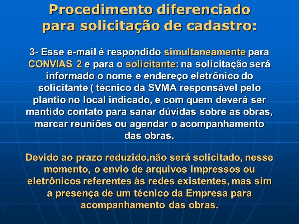 3- Esse e-mail é respondido simultaneamente para CONVIAS 2 e para o solicitante: na solicitação será informado o nome e endereço eletrônico do solicit