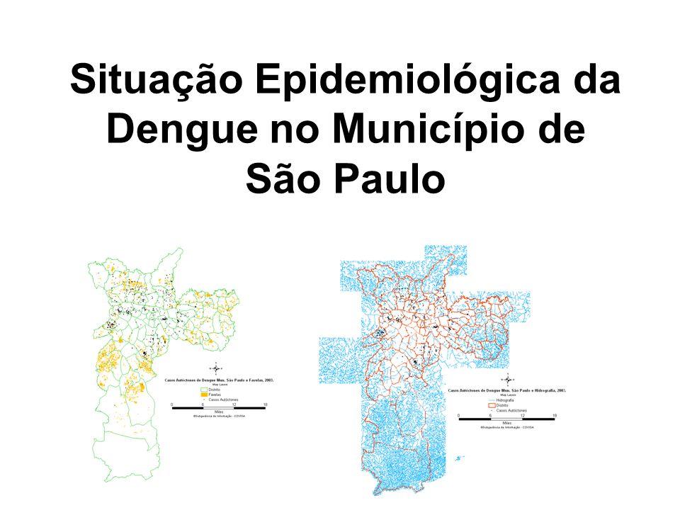 Situação Epidemiológica da Dengue no Município de São Paulo