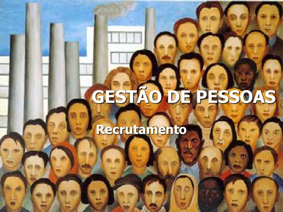 GESTÃO DE PESSOAS Recrutamento Recrutamento