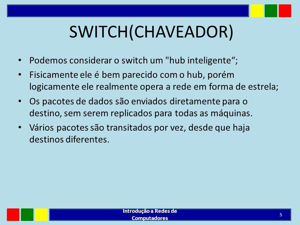 SWITCH(CHAVEADOR) Podemos considerar o switch um
