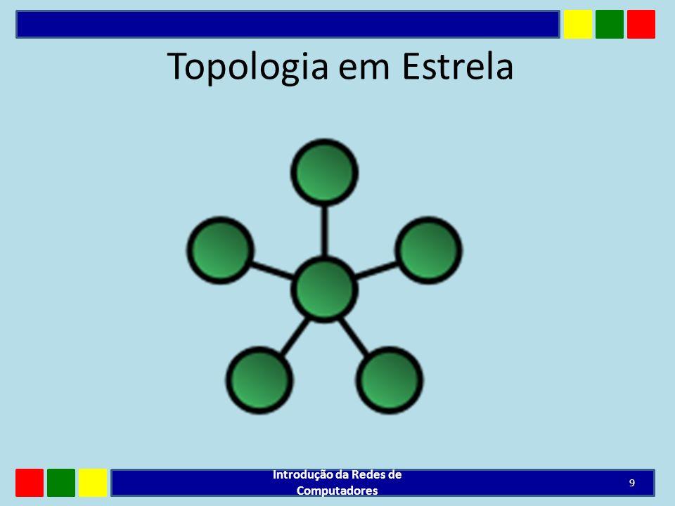 Topologia em Estrela Introdução da Redes de Computadores 9