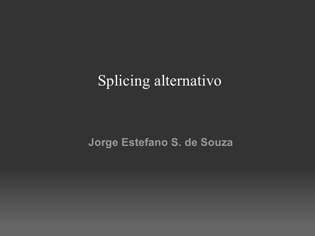 Splicing alternativo Jorge Estefano S. de Souza