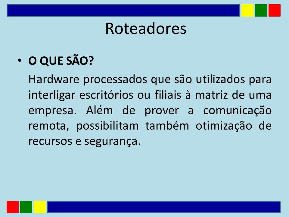 Desvantagens Maior complexidade na implementação/configuração; Overhead na rede decorrente das mensagens trocadas pelos roteadores.