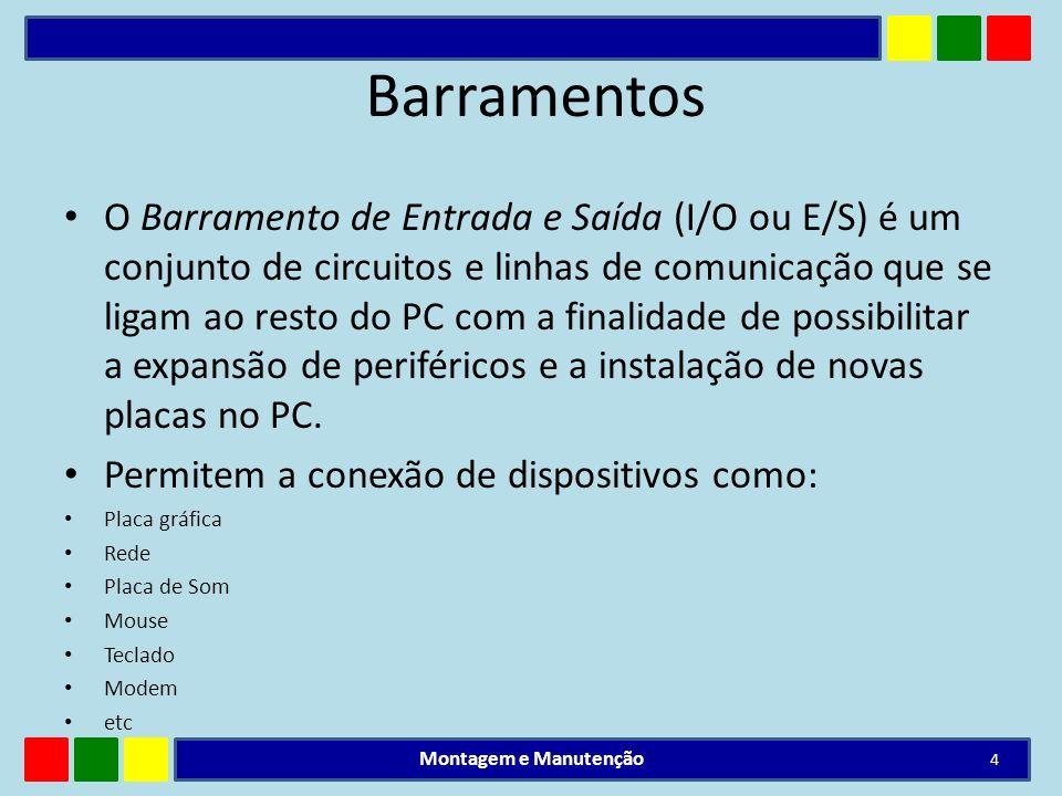 Barramento ISA O barramento ISA é um padrão não mais utilizado, sendo encontrado apenas em computadores antigos.