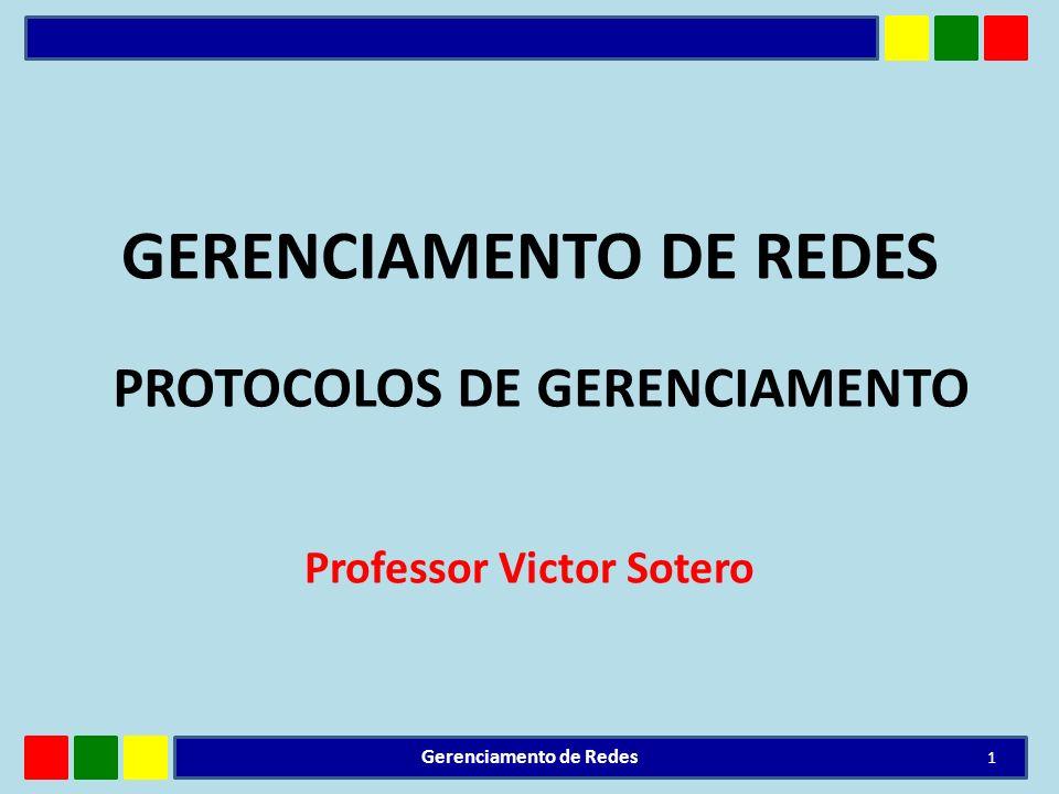 GERENCIAMENTO DE REDES Professor Victor Sotero 1 Gerenciamento de Redes PROTOCOLOS DE GERENCIAMENTO