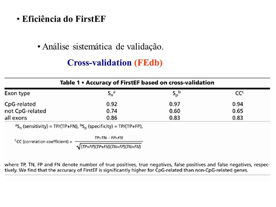 Procurando o primeiro exon e a região promotora FirstEF Predizer o primeiro exon e a região Promotora usando diferentes funções discriminantes estrutu