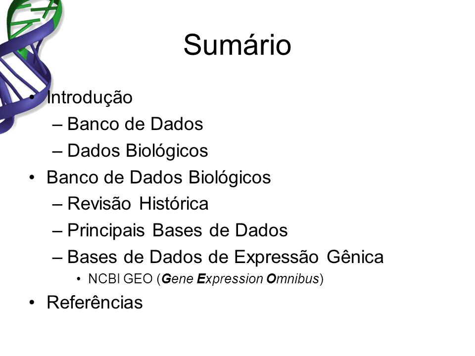 Banco de Dados A database is a collection of related data.