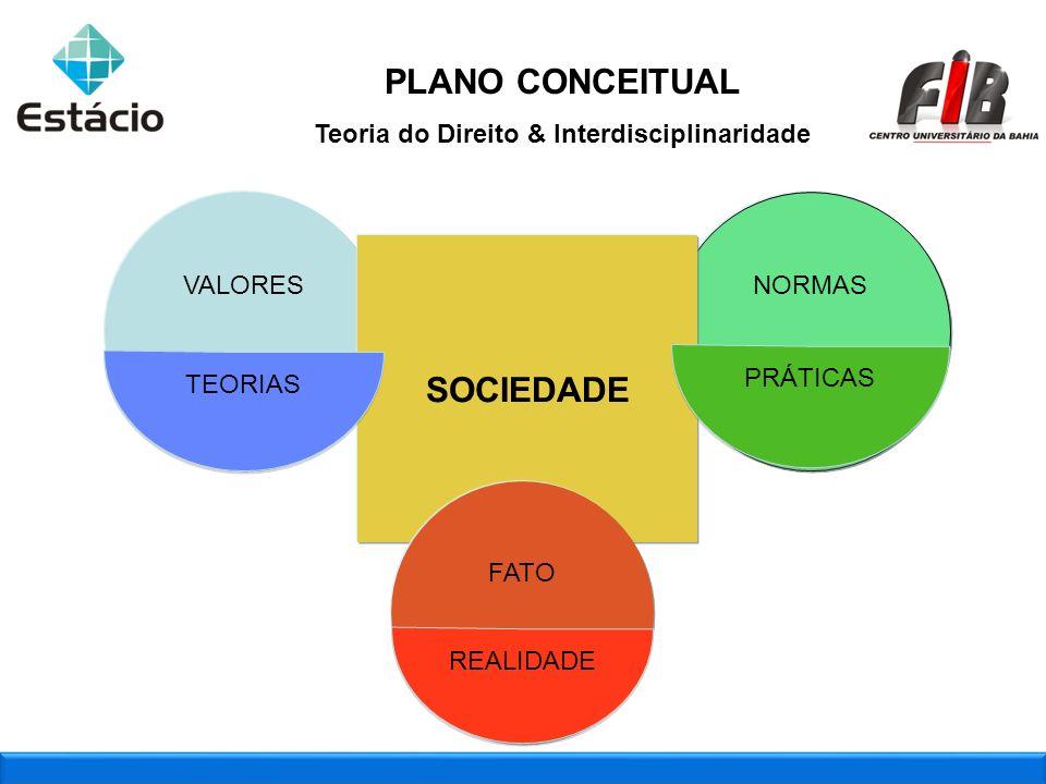 2009_2 : Aplicação das marcas juntas VALORES NORMAS SOCIEDADE TEORIAS PRÁTICAS FATO REALIDADE PLANO CONCEITUAL Teoria do Direito & Interdisciplinarida