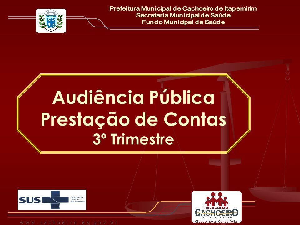 Audiência Pública Prestação de Contas 3º Trimestre