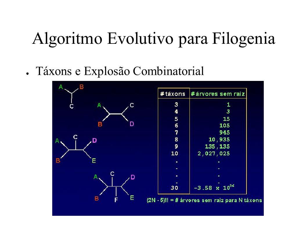 Algoritmo Evolutivo para Filogenia Táxons e Explosão Combinatorial