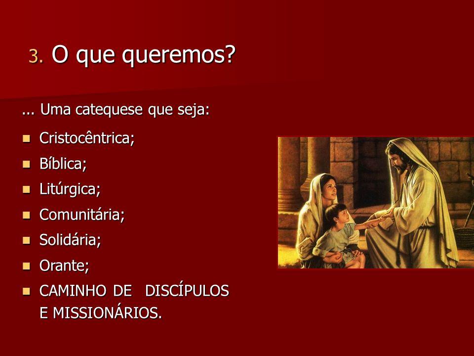 ...uma catequese integrada que envolva: Crianças e jovens; Crianças e jovens; Família; Família; Comunidade; Comunidade; Catequista.