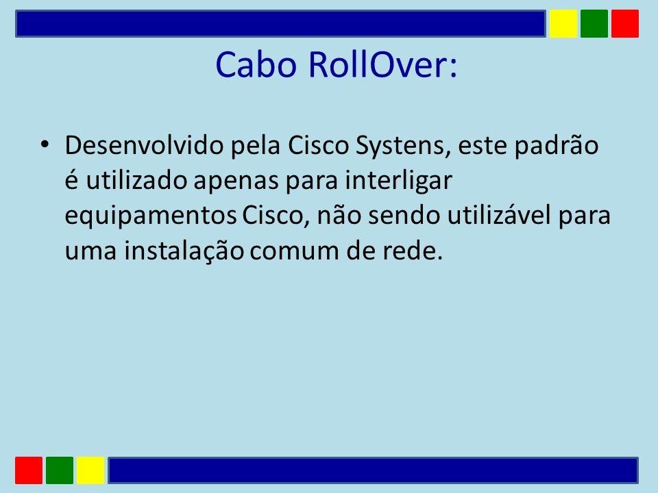 Cabo RollOver: Desenvolvido pela Cisco Systens, este padrão é utilizado apenas para interligar equipamentos Cisco, não sendo utilizável para uma insta