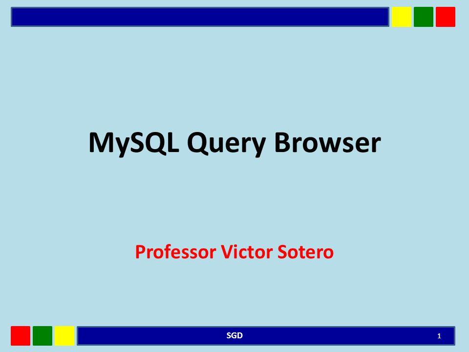 DEFINIÇÃO O MySQL Query Browser é uma ferramenta gráfica fornecida pela MySQL AB para criar, executar e otimizar solicitações SQL em um ambiente gráfico.