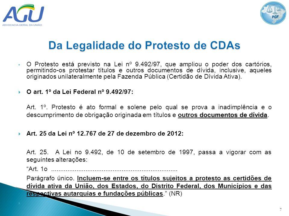 O Protesto está previsto na Lei nº 9.492/97, que ampliou o poder dos cartórios, permitindo-os protestar títulos e outros documentos de dívida, inclusi