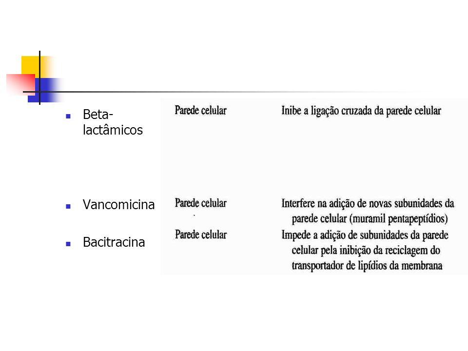 Beta- lactâmicos Vancomicina Bacitracina