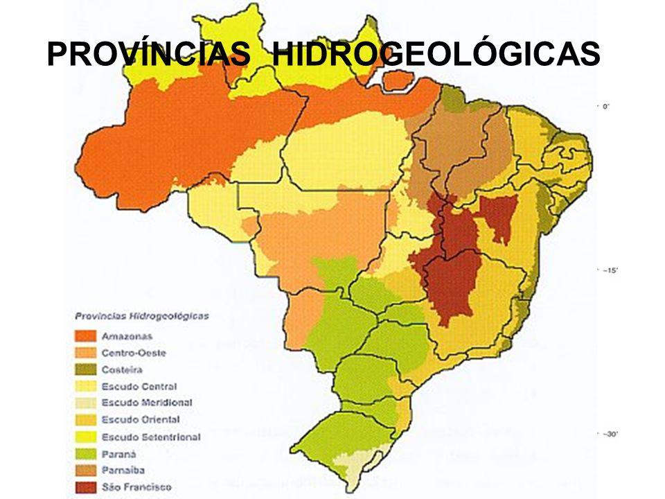 FATORES GEOMORFOLÓGICOS PROVÍNCIAS HIDROGEOLÓGICAS