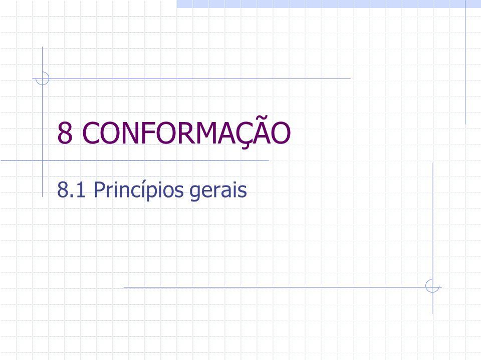 8 CONFORMAÇÃO 8.1 Princípios gerais