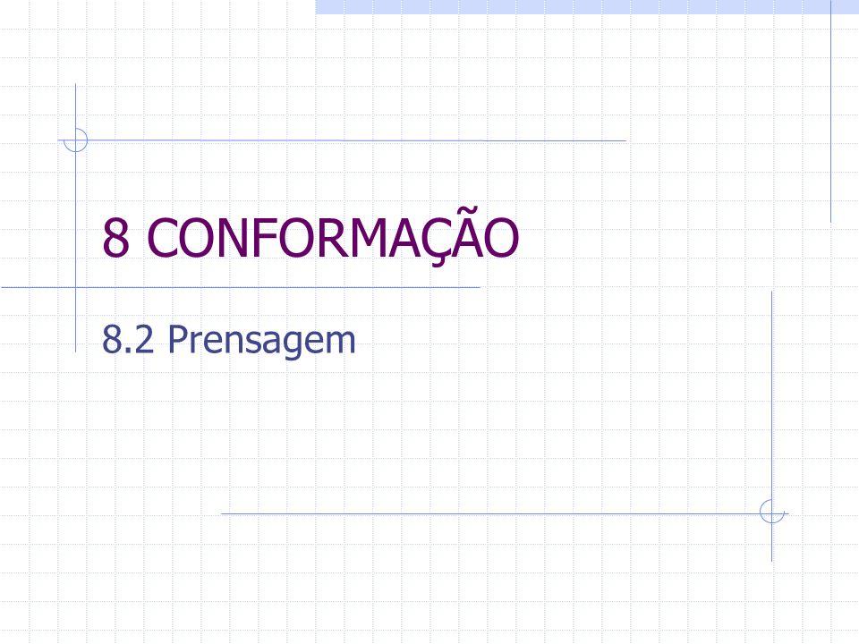 8 CONFORMAÇÃO 8.2 Prensagem