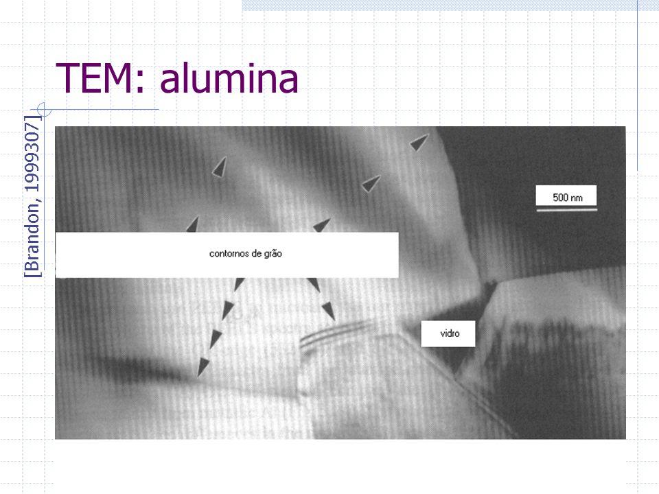 01/05/013 TÉCNICAS DE CARACTERIZAÇÃO8 TEM: alumina [Brandon, 1999307]