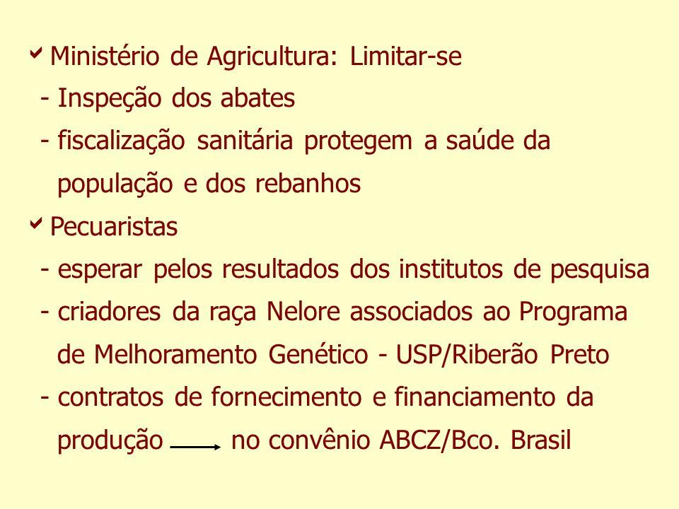Ministério de Agricultura: Limitar-se - Inspeção dos abates - fiscalização sanitária protegem a saúde da população e dos rebanhos Pecuaristas - espera