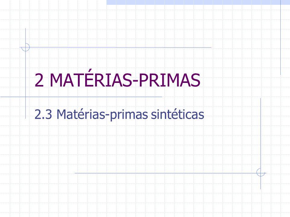 2 MATÉRIAS-PRIMAS 2.3 Matérias-primas sintéticas