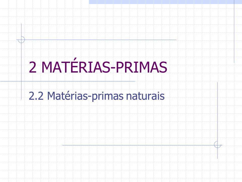 2 MATÉRIAS-PRIMAS 2.2 Matérias-primas naturais
