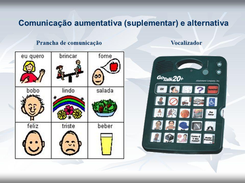 Comunicação aumentativa (suplementar) e alternativa Prancha de comunicação Vocalizador