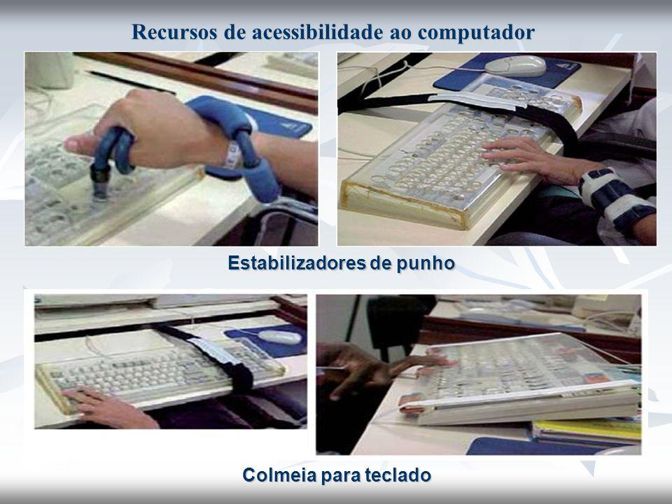 Estabilizadores de punho Colmeia para teclado Recursos de acessibilidade ao computador