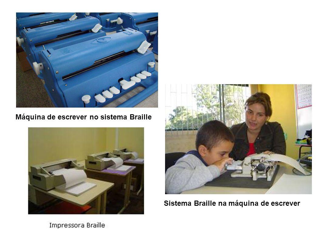 Sistema Braille na máquina de escrever Máquina de escrever no sistema Braille