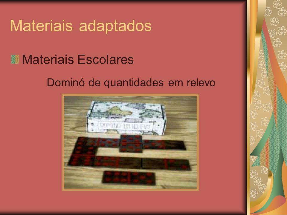 Materiais adaptados Materiais Escolares Dominó de quantidades em relevo