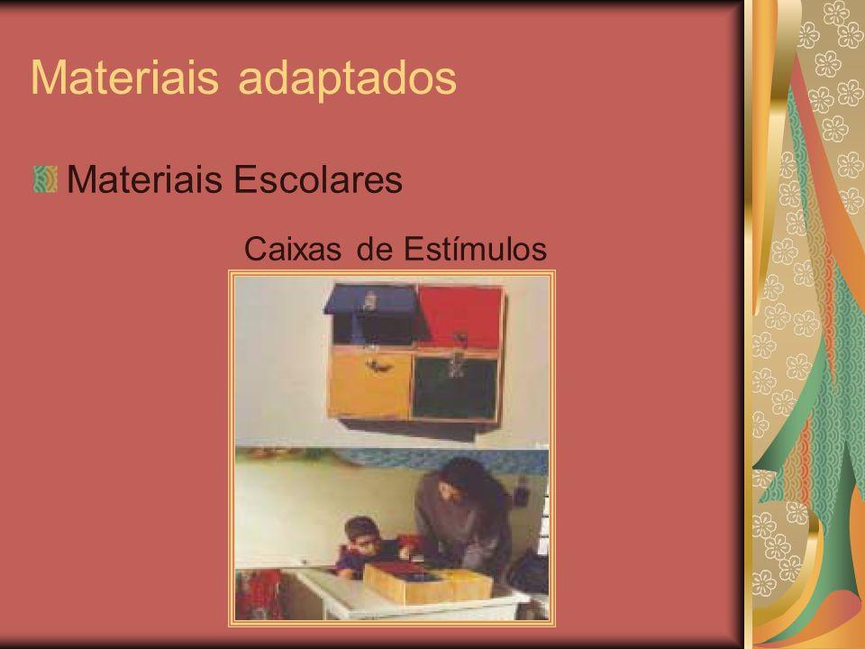 Materiais adaptados Materiais Escolares Caixas de Estímulos