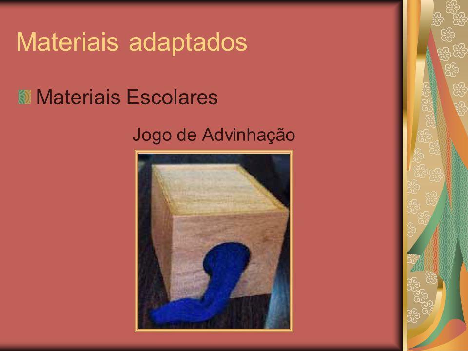 Materiais adaptados Materiais Escolares Jogo de Advinhação