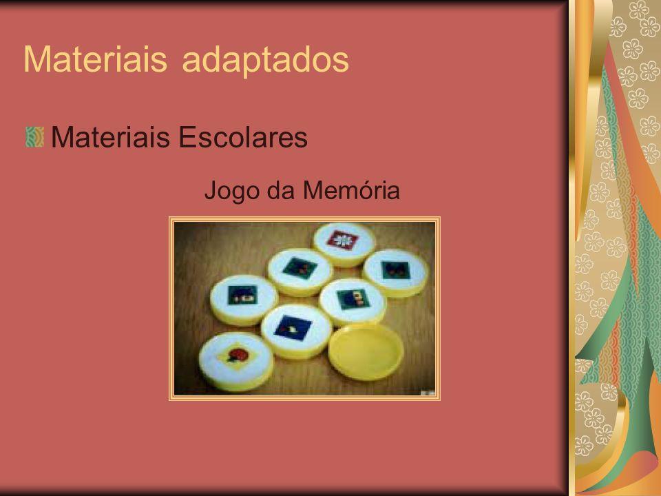 Materiais adaptados Materiais Escolares Jogo da Memória