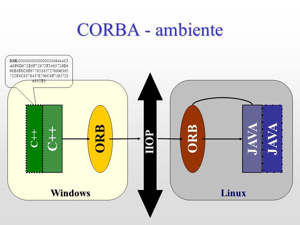 LinuxWindows CORBA - ambiente JAVA ORB IIOP IOR:000000000000003049444C3 A6F6D672E6F72672F5465726D6 96E6F6C6F677953657276696365 732F4C65784578706C6F726