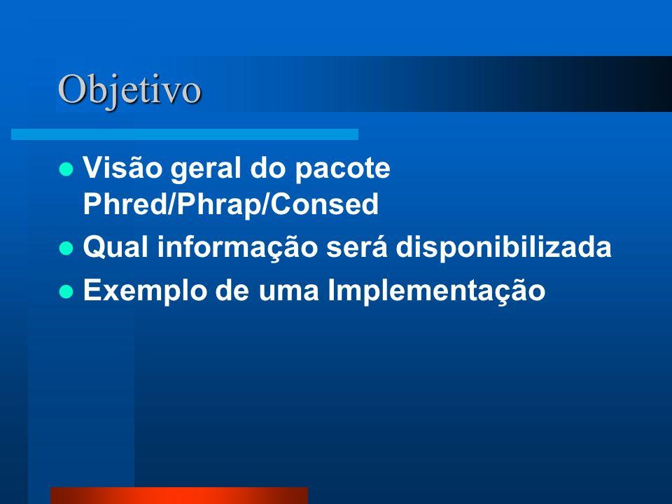 Objetivo Visão geral do pacote Phred/Phrap/Consed Qual informação será disponibilizada Exemplo de uma Implementação