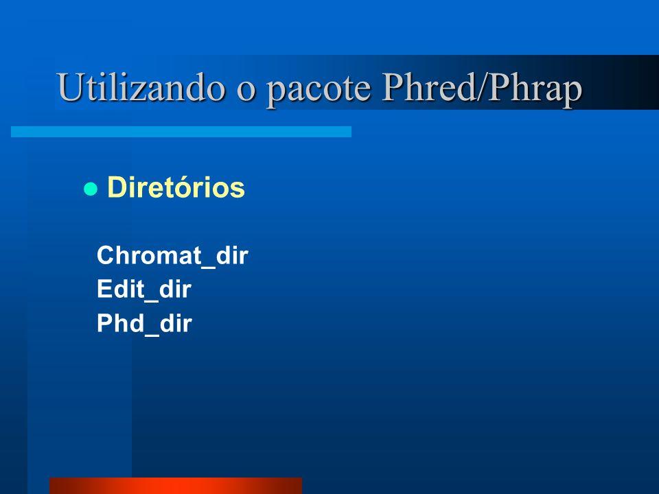 Algoritmos / Scripts Início e Fim da seqüência de alta qualidade 1 - Abrir o arquivo phd.1 desejado.