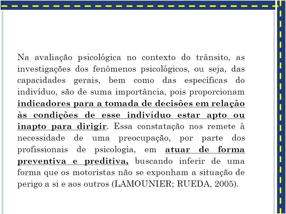 C ONTEXTO : Exames psicotécnico para redução de acidentes: Rio de Janeiro, em 2 de abril de 1951 - Tenente Coronel Geraldo de Menezes Cortês Primeiras avaliações no Rio de Janeiro, como método para redução de acidentes.