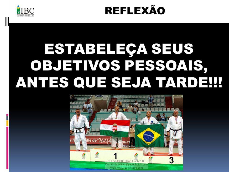 ESTABELEÇA SEUS OBJETIVOS PESSOAIS, ANTES QUE SEJA TARDE!!! REFLEXÃO