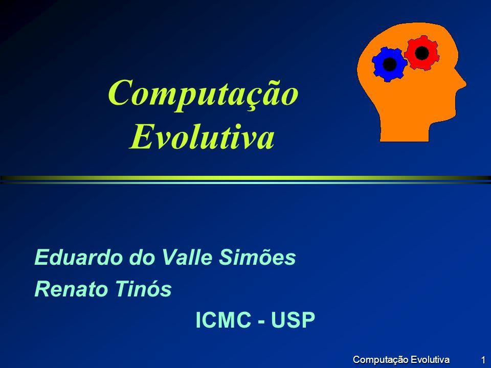 Computação Evolutiva 2 Principais Tópicos l Introdução l Evolução Natural l Computação Evolutiva l Algoritmos Genéticos l Aplicações l Conclusão