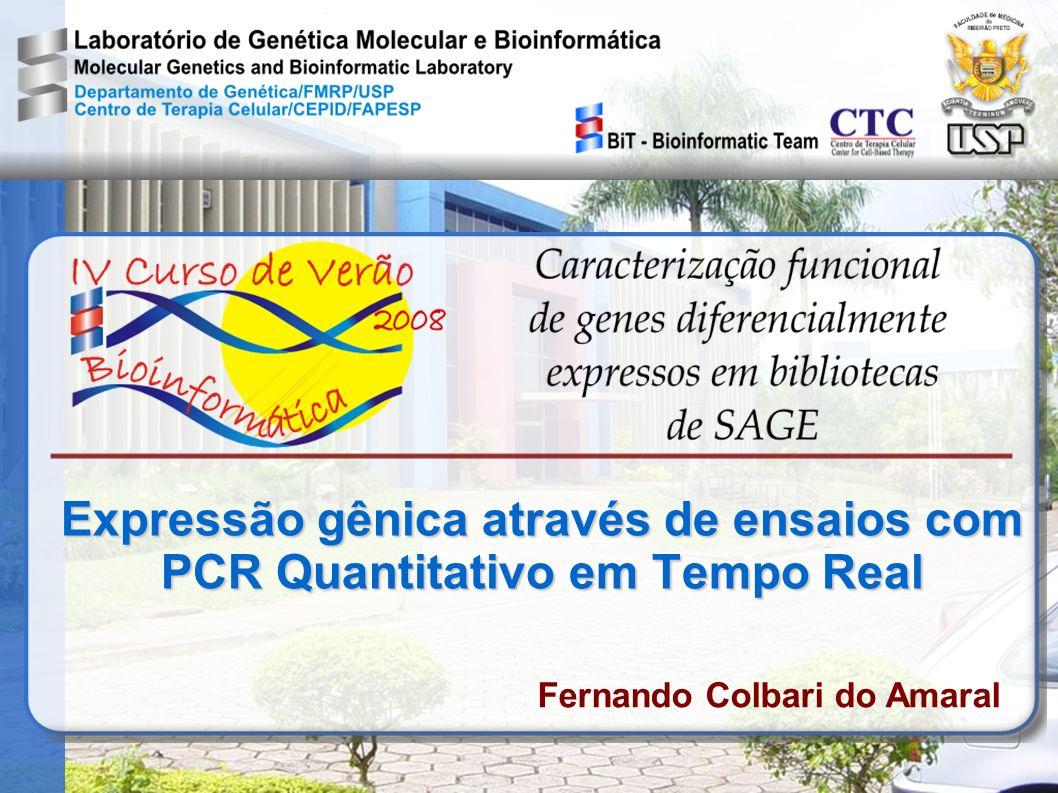 Expressão gênica através de ensaios com PCR Quantitativo em Tempo Real Fernando Colbari do Amaral