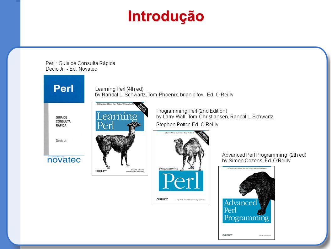 Introdução Perl : Guia de Consulta Rápida Decio Jr.