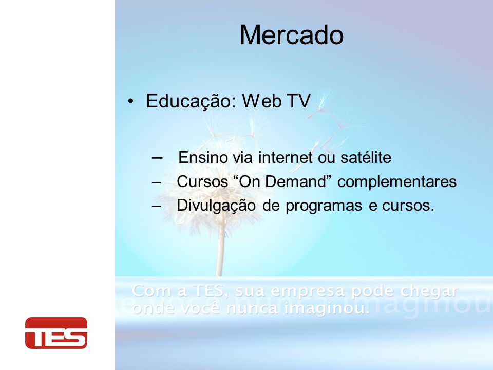 Broadcast: Encoder/Decoder – Transporte de video Broadcast – Aplicações Head-end – Aplicações Backhaul Mercado