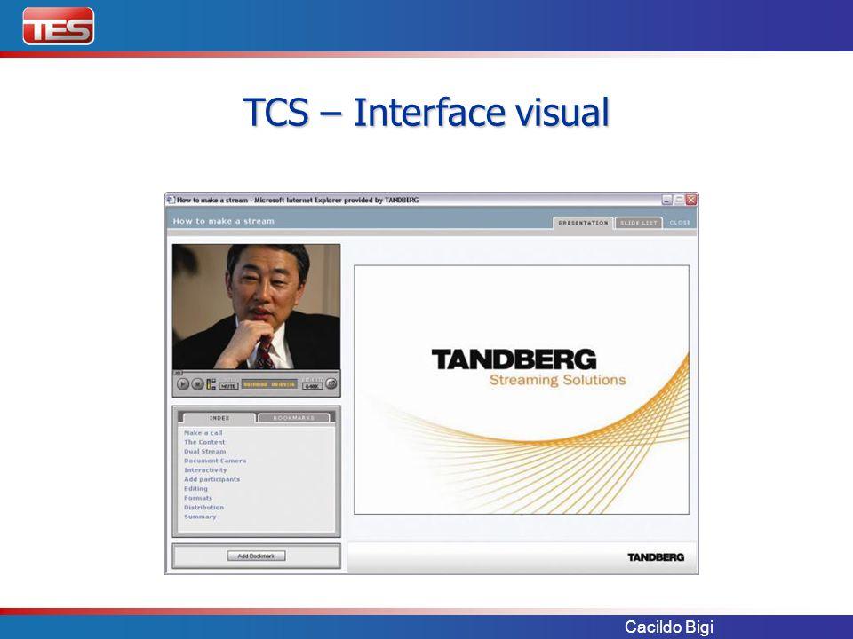 Cacildo Bigi TCS – Interface visual